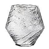Taza de estilo resistente al calor para copa de vino de cristal martillado hecho a mano, hermosa y fácil de beber de vidrio resistente al calor, duradero y reutilizable (380 ml) 0630