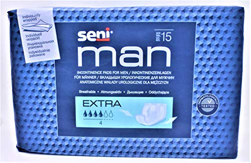 Seni Man Extra Fuite Couche pour Homme Pack de 15...