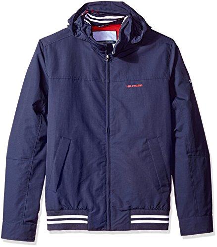 Tommy Hilfiger Men's Lightweight Waterproof Regatta Jacket, Sailor Navy, Large