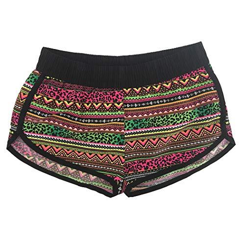 Jeff-chy damesbroek sneldrogende strandbroek, zomerbeachbroek, shorts in Europese versie bedrukte zwembroek, vakantie, hete broek, vrouwen