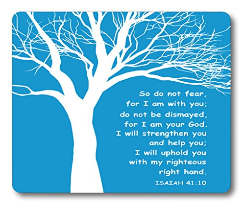 Smooffly Gaming Mouse Pad Custom,Christian Theme - Bible Verse Isaiah 41:10 Mouse pad 9.5 X 7.9 Inch (240mmX200mmX3mm)