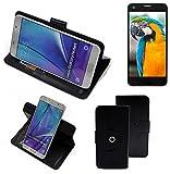 K-S-Trade® Case Schutz Hülle Für -Vestel V3 5040- Handyhülle Flipcase Smartphone Cover Handy Schutz Tasche Bookstyle Walletcase Schwarz (1x)