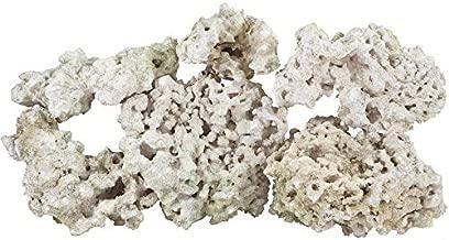 ARC Reef Dry Base Rock with Coralline Algae Bonus Rock for Saltwater Aquariums, 45 lbs.