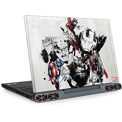 Skinit Decal Laptop Skin for Inspiron 15 7000 7567 (2017) - Officially Licensed Marvel/Disney Avengers Action Sketch Design