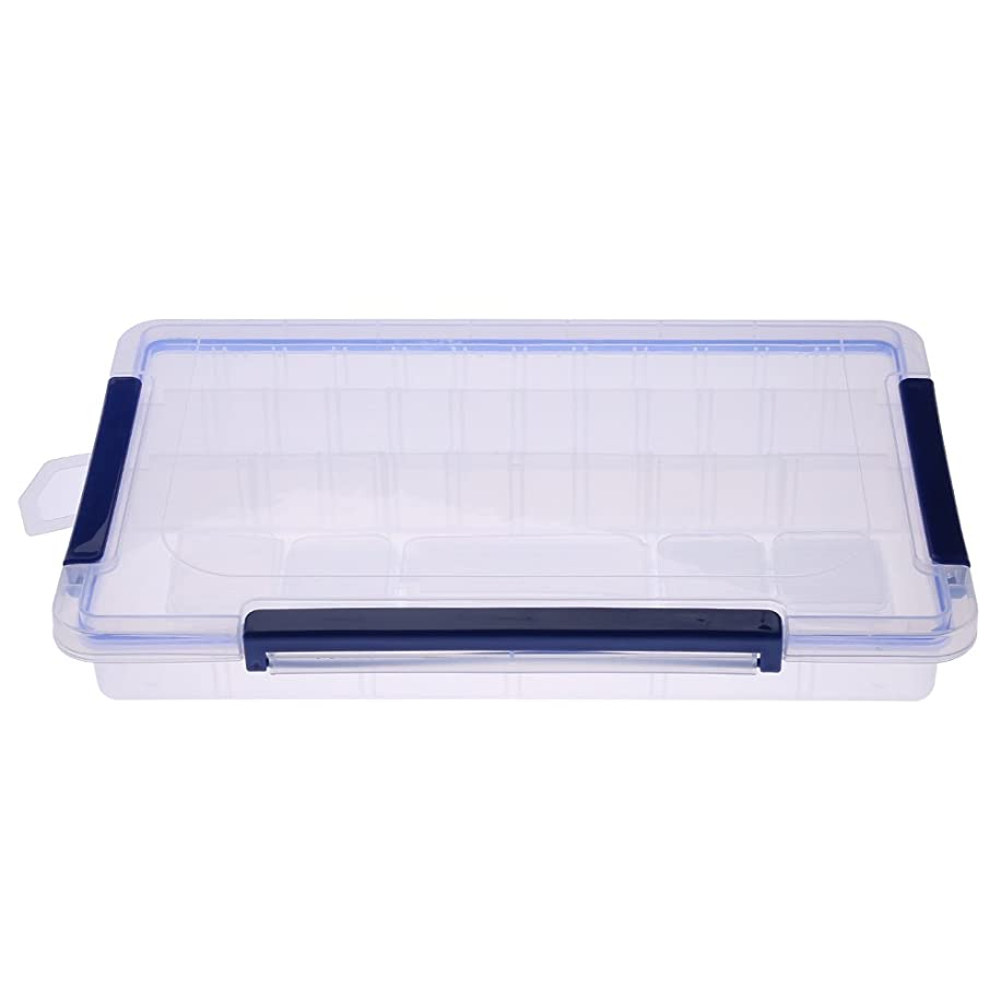 Rectangle Clear Plastic Detachable Storage Box Case Craft Beads Jewelry Box Sewing Box Organizer Container Divider(L)