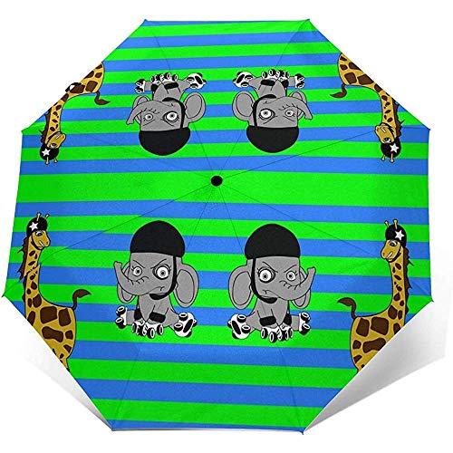 Roller Derby Animals Reiseschirm Sonnenschirm-Leichter winddichter Sonnenschutzschirm-Auto-Knopf zum Öffnen und Schließen