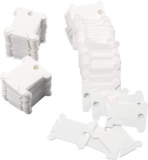 200 Pieces Plastic Floss Bobbins - Cross-Stitch Thread Bobbins Card Thread Holder, Craft DIY Sewing Storage, White