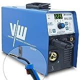 Vector Welding MIG225 - Soldadora profesional con 225 Amp – Electrodos Inverter IGBT – Combi Mig Mag – Equipo de soldadura – Equipo de soldadura de alambre – MMA ARC E-Hand MIG225