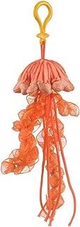 Stuffed Chrysaora Jelly Fish Clip Toy Keychain by Wild Life Artist Jellyfish Clip On Stuffed Animal