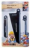 Saxton SSB03CB Lot de 3 lames en bois et métal compatible avec scies à scorpion...