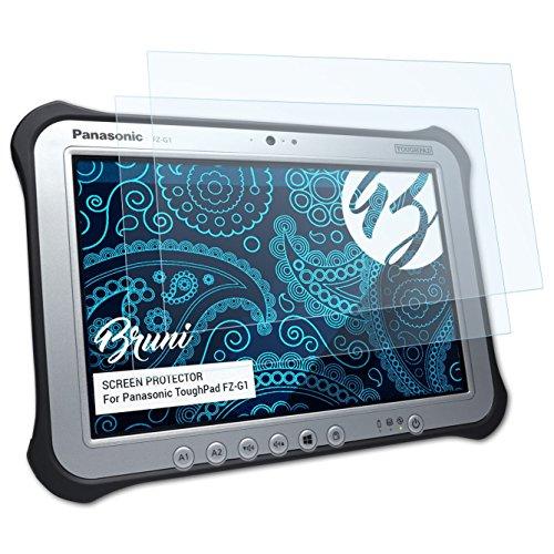 Bruni Schutzfolie kompatibel mit Panasonic ToughPad FZ-G1 Folie, glasklare Bildschirmschutzfolie (2X)