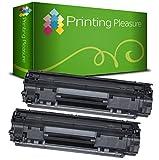 Printing Pleasure 2 Toner Compatibili per HP Laserjet Pro P1010 P1102 P1102W M1130 M1132 M1210 M1212 M1213 M1217 Canon LBP-6000 LBP-6000B LBP-6020B MF-3010 | CE285A 85A CRG 725 3484B002, Colore: Nero