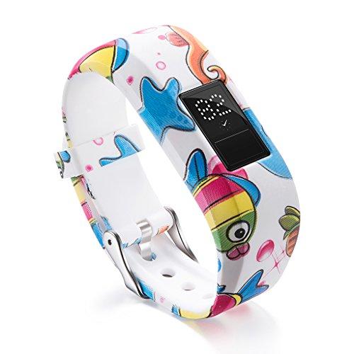 hainan Correa de reloj de silicona suave compatible con Garmin VivoFit JR/JR2 Junior Bandas de repuesto para pulsera de reloj