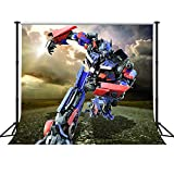 GESEN 10X10ft Science Fiction Movies Backdrop Transformers Optimus Prime Photography Background for Pictures Game Live Backdrop Customized Photo Studio Props Indoor Mural WBGE0036