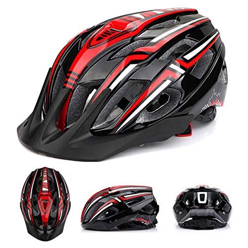 LED Light Unisex Men Women MTB Bike Helmet MTB Mountain Riding Bicycle Cycling Safety Cap Hat