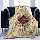 Marauders Map Super Soft Microfleece Blankeankets, Sofa Beds, Air-Conditioning Blankets. The Best Choice for Family and Friends 50' X40