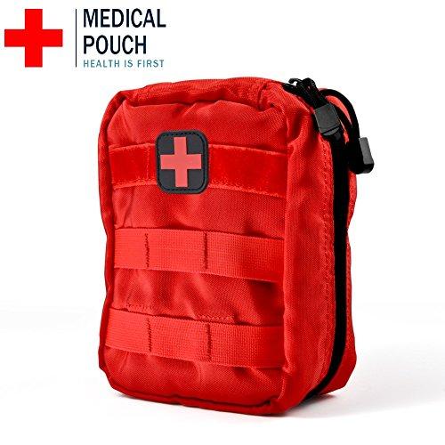 VGEBY Erste Hilfe Tasche Leer Medizinische Tasche Taktische Rucksack Notfalltasche f¨¹r Reisen Camping Wandern Radfahren Outdoor (Rot)