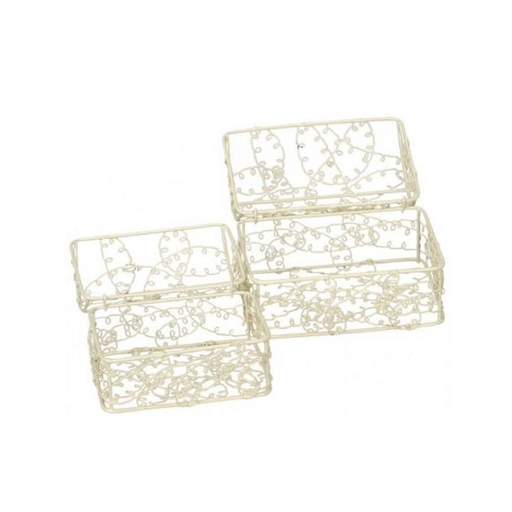 マーチャンダイザーシンジケートパラメータ(ゲインズボローギフトウェア) Gainsborough Giftware ワイヤー トリンケット 小箱 置物 オーナメント 雑貨 (2個組)