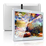10 inch Android Tablet PC with Octa-Core CPU, 4GB RAM 64GB ROM IPS Touchscreen,5G-WiFi, Dual SIM Cards Slot Unlocked,Bluetooth GPS,K5 (Silver)