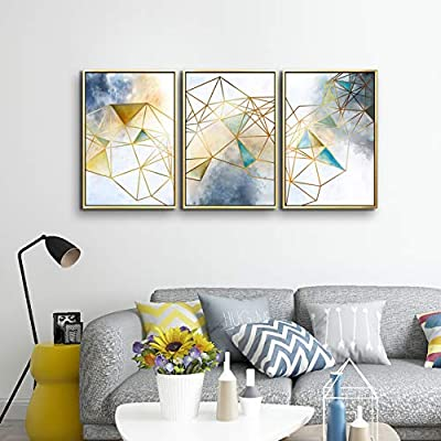 ARTLAND Modern Flower Painting on Canvas Yellow Plum Blossom 3-Piece Gallery-Wrapped Framed Wall Art Ready to Hang for Living Room from ARTLAND