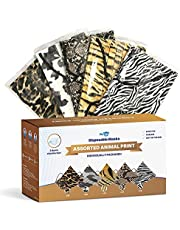 WeCare Disposable Face Mask Individually Wrapped - 50 Pack, Animal Print Masks - 3 Ply