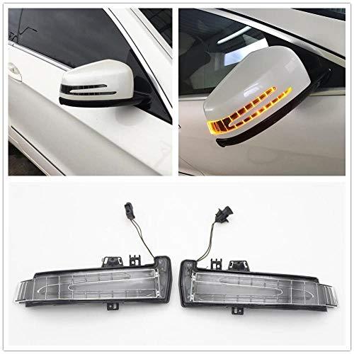 LED del espejo retrovisor de luz de señal LED cabida for el Mercedes Benz W221 W212 W204 S300 S500 S350 S600 S400 C180 indicador intermitente de la lámpara (Color : Left And Right)