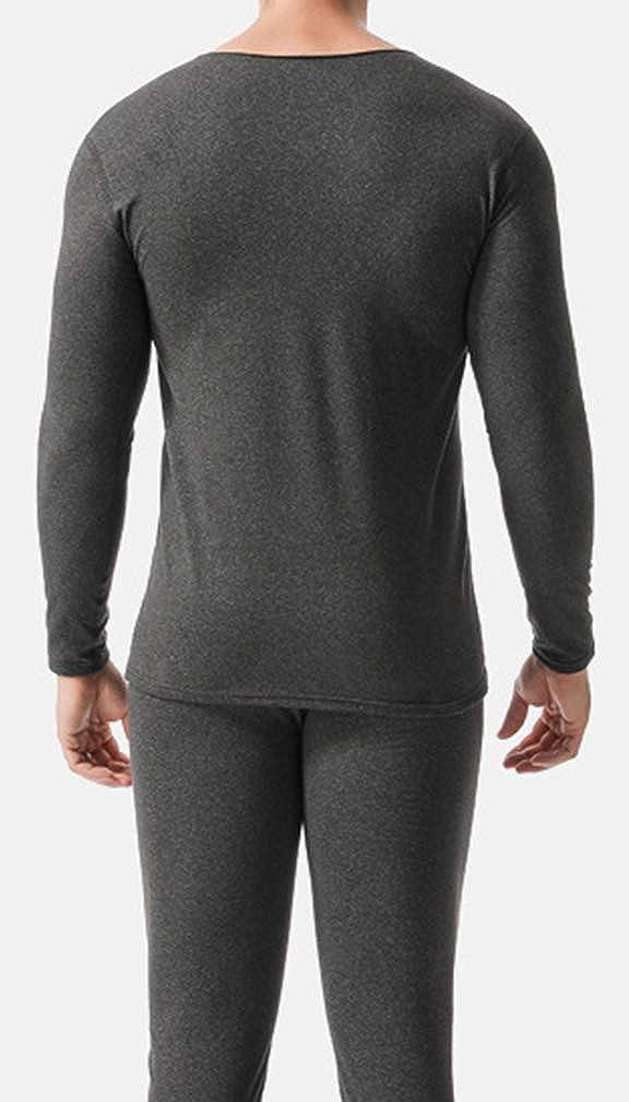 Litteking Men's Thermal Underwear Set Soft Lined Long Johns Base Layer Top and Bottom Set