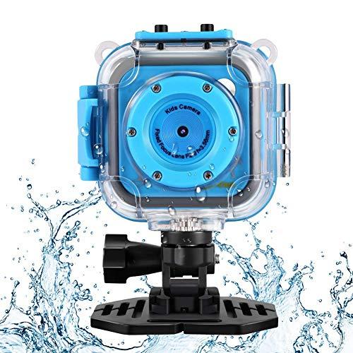 GAKOV Kamera Wasserdicht Kinder WiFi 1280P 2MP Unterwasser Videokameras Sportkamera mit Unterwasser-Gehäuse (Kinder Action Cam)