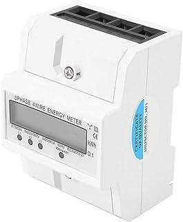 Medidor eléctrico - Medidor de energía electrónica KWh trifásico de cuatro alambres DIN KWh de LCD de 3 x 20 (80A)