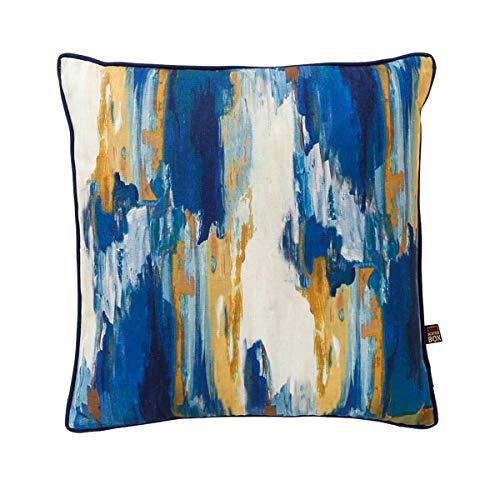 Scatterbox Cushion, Blue/Ochre, W43cm x L43cm (17')
