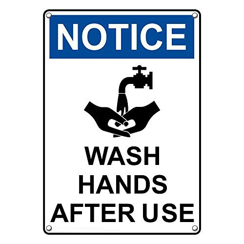 List price Weatherproof Plastic Vertical OSHA Notice After Hands Wash S Super intense SALE Use