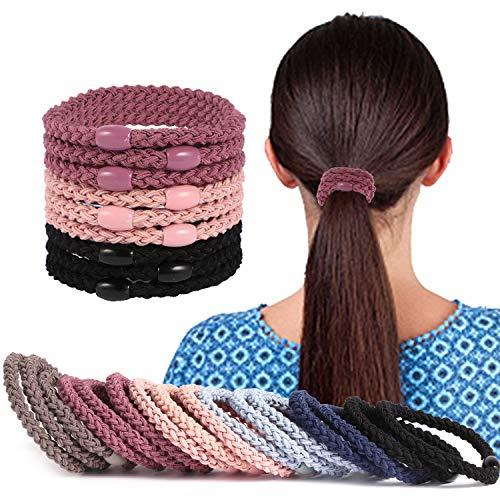 GXZOCK 9 Stück Haargummis, Premium Gummibänder Haarbänder, Elastischer und aus Baumwolle - Gummibänder für Frauen und Mädchen Dutt, Haargummi Haarband...