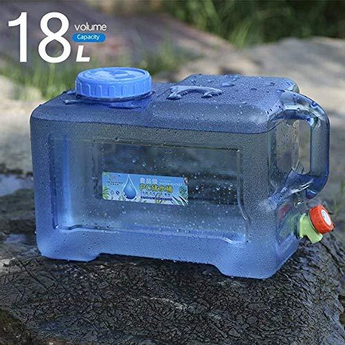 Yimihua Tanque Agua 18L Bidón De Agua con Grifo Contenedor De Agua Portátil Depósito De Agua Envase Agua Que Acampa Tanque De Almacenamiento De Agua Portátil Acampar Viajes En Auto