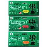 3 Ballerina Diet Tea Extra Strength for Men and Women 3 Boxes Flavored Combo (Orange, Lemon and Cinnamon Flavors)