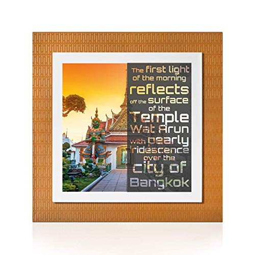 YOUPi! Your Best Feeling Bangkok Stadtbild | Originelles Geschenk | Zwei Teile durch Magneten | Größe 30 x 30 (Lux)