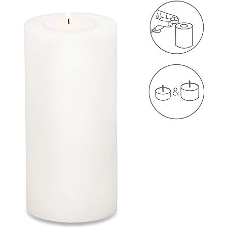 EDZARD Porte-bougie Cornelius, hauteur 9 cm, diamètre 8 cm, bougie permanente, convient aux bougies chauffe-plat standard et aux bougies chauffe-plat transparentes, résistant à la chaleur jusqu'à 90 degrés
