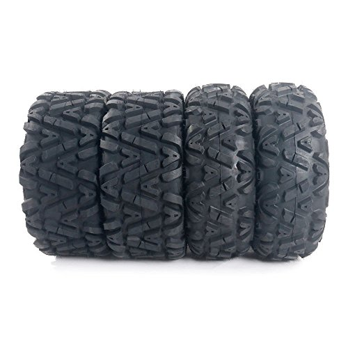 TRIBLE SIX Set of 4 ATV UTV Tires 26x9-12 Front 26x11-12 Rear 26-9-12 26-11-12 LRC All-Terrain Tubeless Tires
