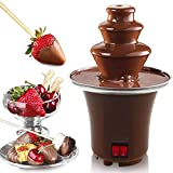 Chocolate Fondue Fountain, 3 Tiers Electric Melting Machine Chocolate Fountain Mini Hot Chocolate Fondue Pot, 1.5-Pound Capacity, Easy to Assemble, Perfect for Nacho Cheese, BBQ Sauce, Ranch, Liqueurs