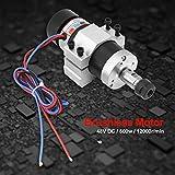 Motor de máquina de grabado, motor sin escobillas de función Cw/Ccw de refrigeración por aire, para herramientas eléctricas de bomba de agua