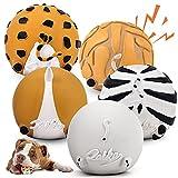 LAIKA Juguete con Sonido de Látex Natural No Tóxico para Perros, Pelota Resistente Interactiva Interesante para Perros Pequeños Medianos y Grandes, Juguetes Bonitos en Forma de Animales 5 Piezas