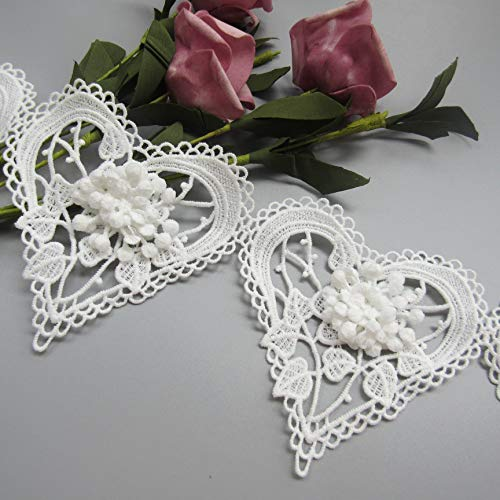 3cm and 3.5cm wide lace floral edge trim 3m lengths of white or ivory lace 1cm