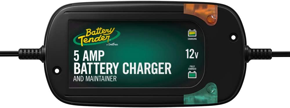 Battery Tender 5 Amp, 12V Battery Charger, Battery Maintainer: Fully-Automatic Battery Charger for Cars, Trucks, SUVs and More - Smart Automotive Battery Chargers - 022-0186G-DL-WH : Automotive