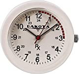 Dakota Nurse Clip Watch - White