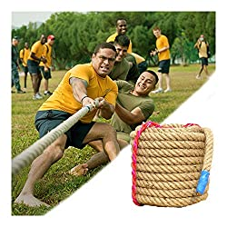 Made of high quality material, durable, suitable for indoor and outdoor places, can be selected according to actual needs. The rope diameter is 30mm, the rope length is 50/60/80ft, and the people number of tug-of-war is about 20/25/30 people. Work gr...