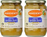 Manischewitz Sweet Gefilte Fish in Jelled Broth 24oz (2 Pack), Packed with Protein, No Added MSG, Kosher for Passover