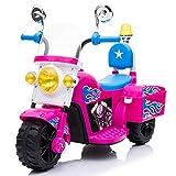 ATAA Moto de Policía Mini - Rosa - Moto eléctrica para niños con batería 6v. Moto de policía Infantil