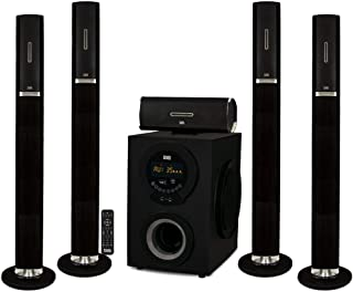 """Acoustic Audio AAT3002 Tower 5.1 Home Theater Bluetooth Speaker System with 8"""" Powered Subwoofer"""