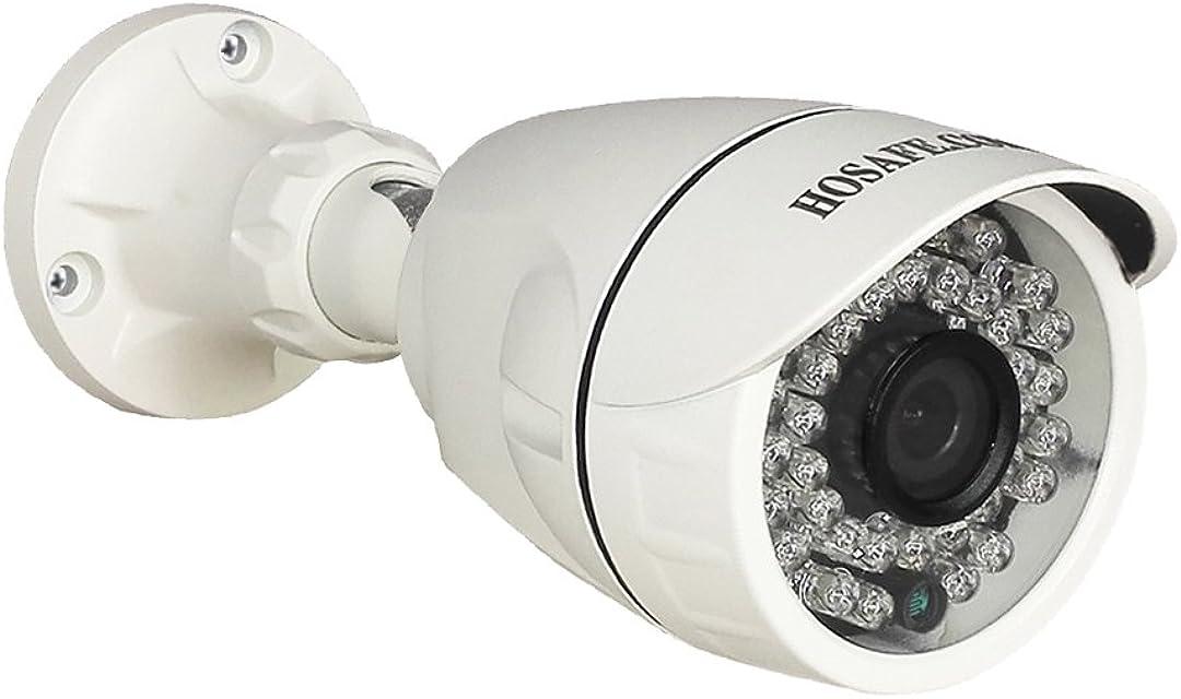 Cámara IP HOSAFE PoE Outdoor 1080P con Audio Cámara de Vigilancia de Seguridad para el Hogar visión Nocturna de 50 pies Alerta de Detección de Movimiento Compatible con ONVIF NVR/Software