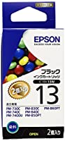 EPSON IC1BK13W(モノクロインクカートリッジ:2個セット)
