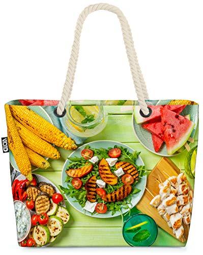 VOID Sommer BBQ Strandtasche Shopper 58x38x16cm 23L XXL Einkaufstasche Tasche Reisetasche Beach Bag